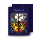 Stained Glass The Eucharist Standard Memorial Card