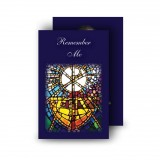 Stained Glass The Eucharist Wallet Card