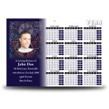 Stained Glass The Eucharist Calendar Single Page