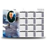 Navy Calendar Single Page