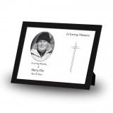 Black and white cross Framed Memory