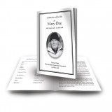 Black and white border No 1 Funeral Book