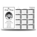 Black and white border No 1 Calendar Single Page