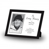 Black and white border No 2 Framed Memory